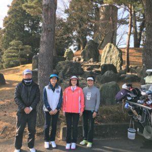 津久井湖ゴルフクラブでコースレッスン